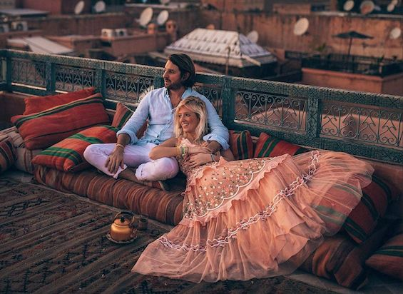 laying on the coach in Fez