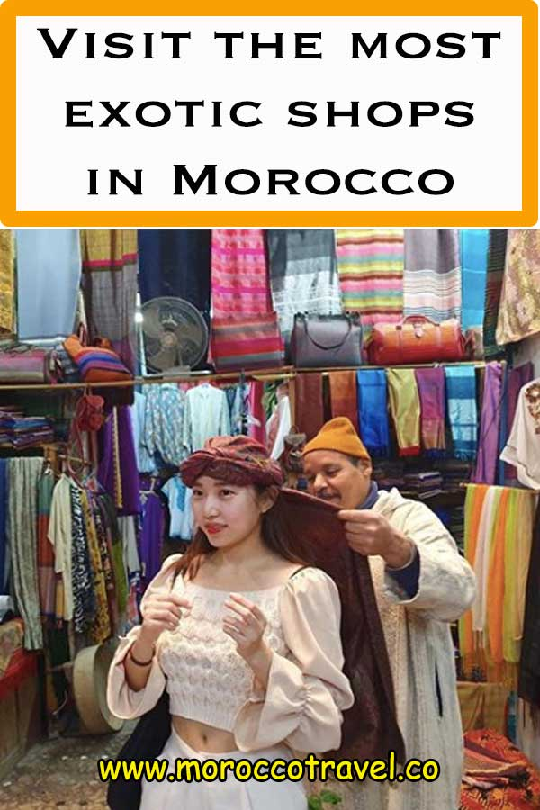 traditional shops in morocco
